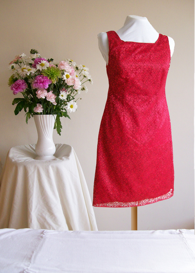 Lovely Red Lace Evening Party or wedding Dress