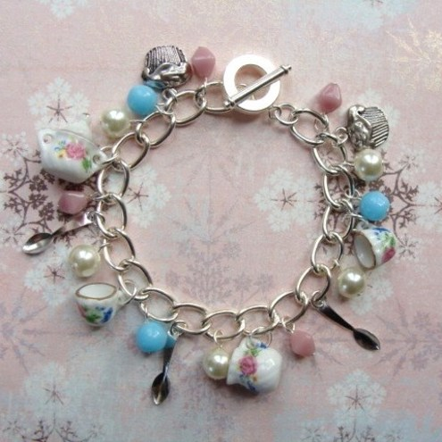 The Blue Starfish - Afternoon Tea Charm Bracelet