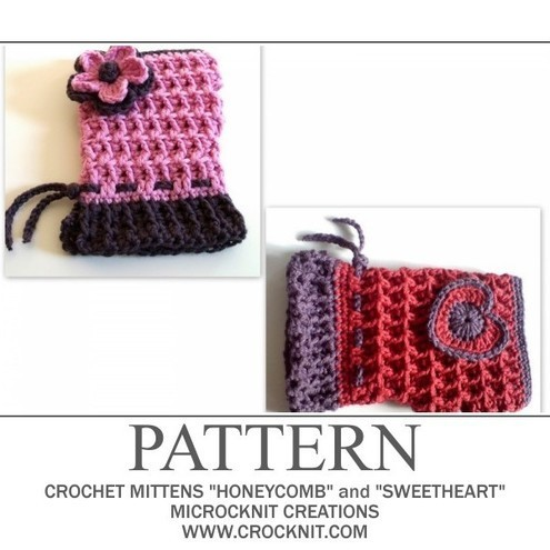 CROCHET SCARF AND MITTEN PATTERNS Crochet Patterns Only