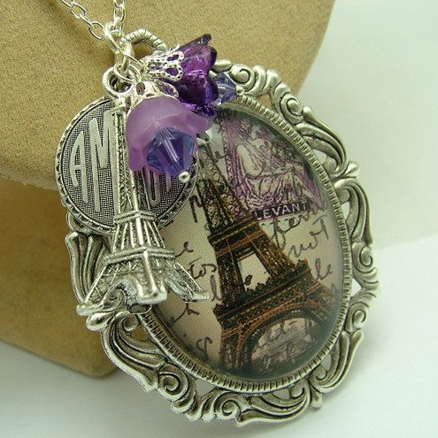Whimsical Wren Jewellery - I remember Paris (Lilac)