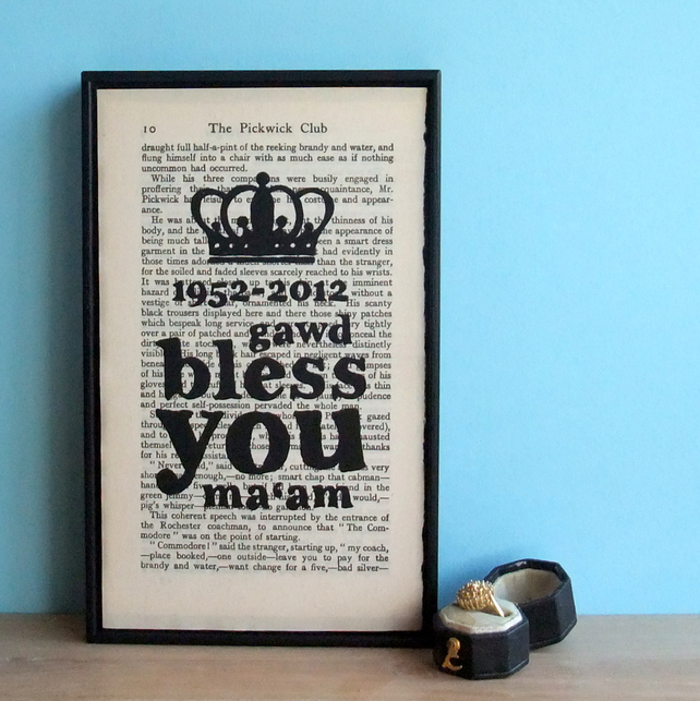 Wall Envy Art - Diamond Jubilee Typographic Art Print
