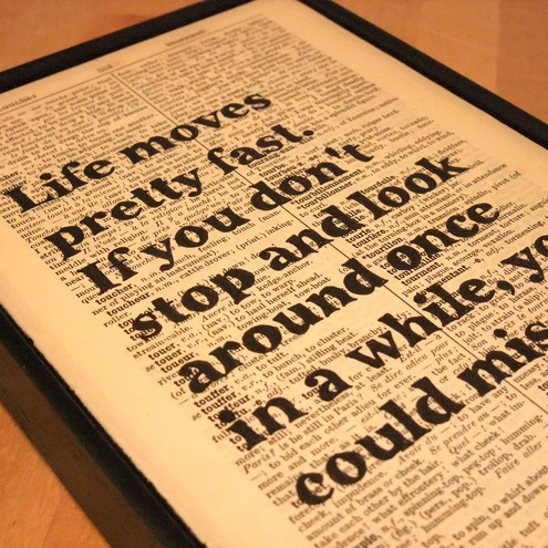Life moves pretty fast, Wall Envy Art £13