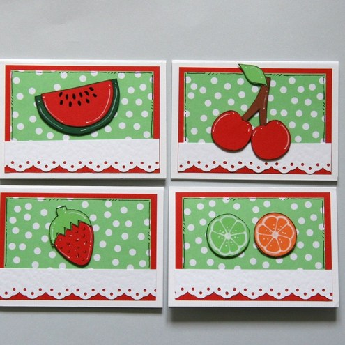 Crafty Mushroom - Fruit Salad Notecards