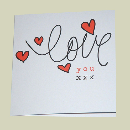 CraftyCrocs Card Shop - ANNIVERSARY CARD OR JUST TO SAY I LOVE YOU