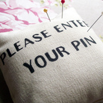 Please enter your PIN pin cushion from Sixes & Sevens