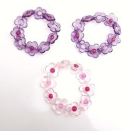 Girls stretch flower bracelets childrens jewellery