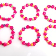 Girls stretch heart bracelet childrens jewellery