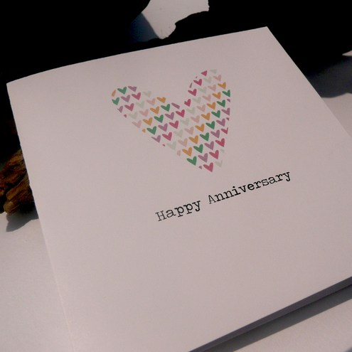 Spotty N Stripy - Anniversary Card
