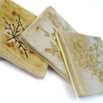 Natural Leaf Coasters, by Charlotte Hupfield Ceramics