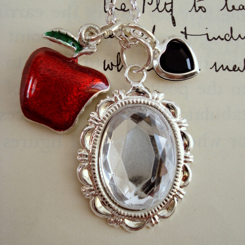 Snow White and the Poisoned Apple Necklace
