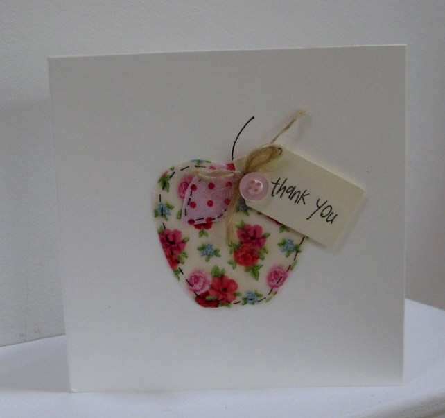 Teacher 39 s thank you card folksy craftjuice handmade for Thank you crafts for teachers
