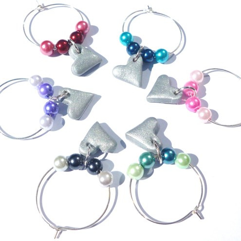 Buttons and Beads Gifts wine glass charms