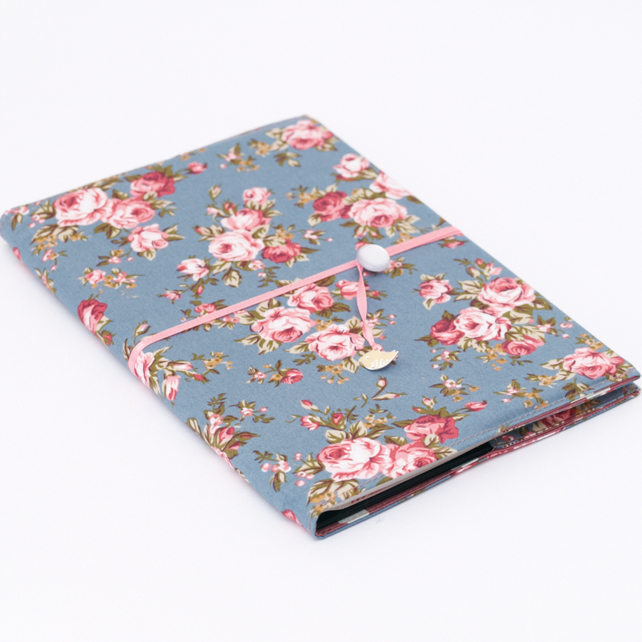 Fabric Book Cover Buy ~ Fabric book cover english rose folksy craftjuice