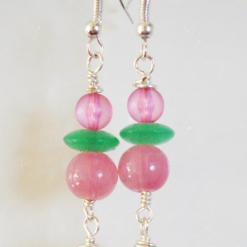 Lollyanna - Berry Green Earrings