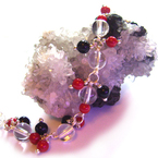 Sparkling Berry Twisted Silver Bracelet.