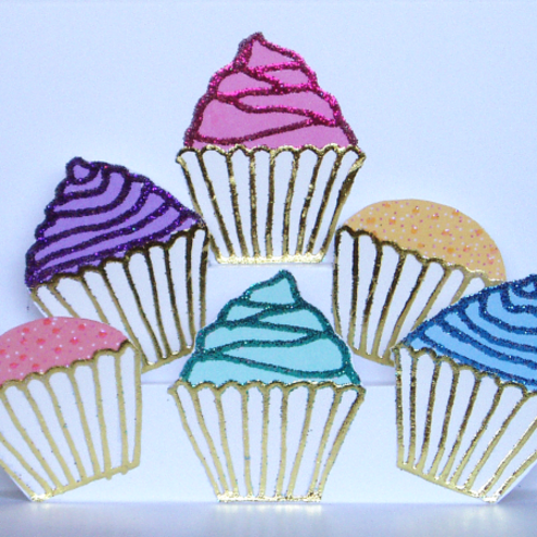 Pop Up Zoo - Multi-Coloured Cupcakes Pop-Up Card