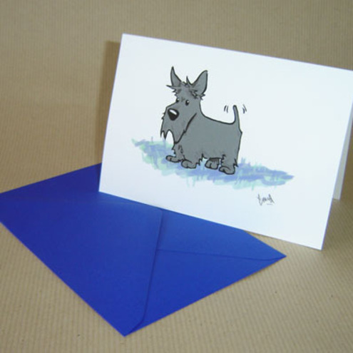 Dach Crafts - Scottish Terrier Card