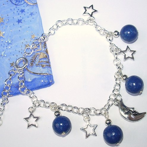FunGiftsForWrists - Moon, Stars & Planets bracelet