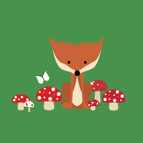 Papercake: Print and Make - Stationery Set Fox in the Forest