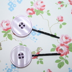 Pair of Button Hair Slides