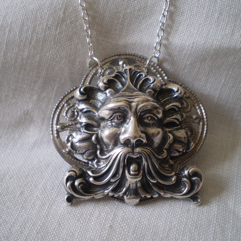 Steampunk Storm - New Age Green Man Pendant