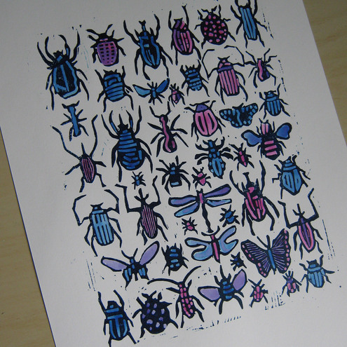 Tournesol Prints - Blue Bugs