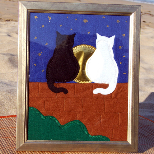 Baggy Ts - Cats on Wall Textile Picture