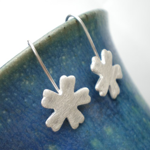 Recycled silver Sweet Primrose Silver Dangle Earrings