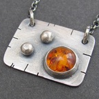 Amber Square Pendant from NR Jewellery Designs