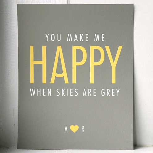 Two for Joy Paper Studio - YOU MAKE ME HAPPY // art print // SMALL