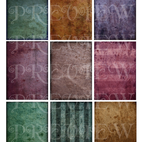 Subtle Grunge Texture Sheet for ACEO's and scrapbooking