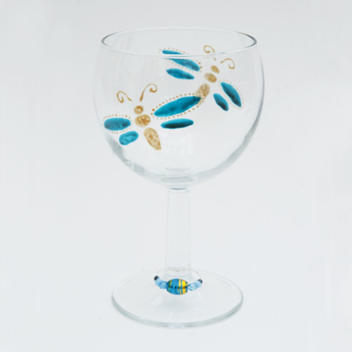 hand painted wine glasses. Hand painted wine glass