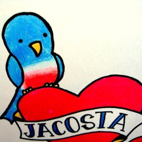 "Folksy :: Buy ""Personalised Bluebird Tattoo Wedding Card"""