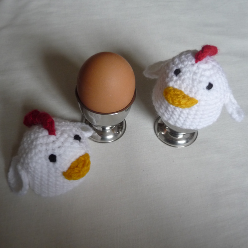 Crochet Chicken Pattern Egg Cozy on eBid United States