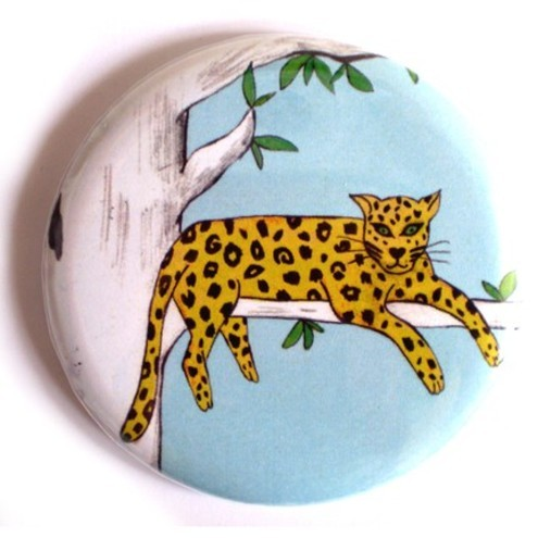 Superfumi - Lazy Leopard Pocket Mirror