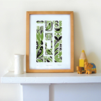 Maze of Sparrows Screen Print, by Kate McLelland