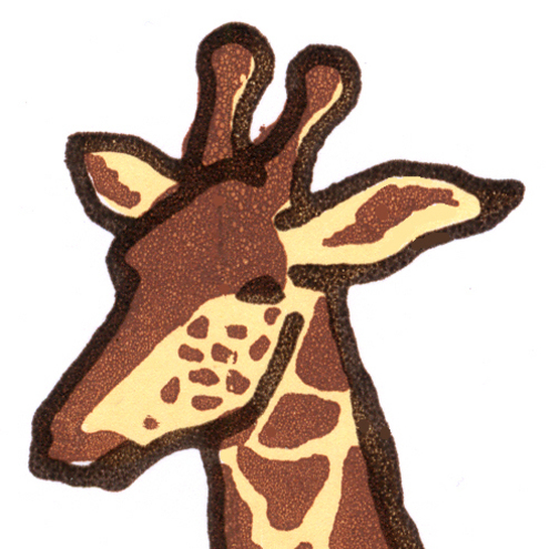 Nant Designs - Giraffe Greetings Card