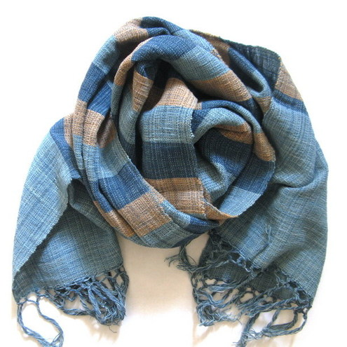 100% hand-loomed cotton scarf for men