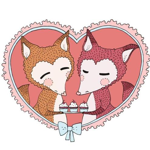 Fox Bunting - Fox and Cupcakes Print