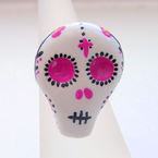 Painted Sugar Skull Ring, by Adore y la Muerto