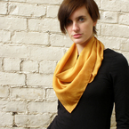 Naturally Dyed Gold Silk Triangle Scarf, by Lissi