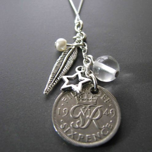 'Lucky' Sixpence Charm Necklace £28.99 - Jupiter Rocks