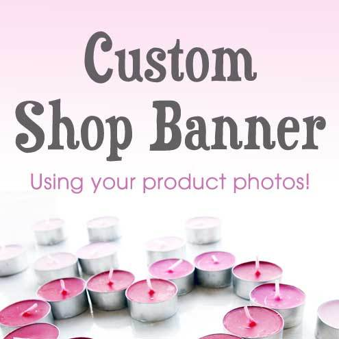 Custom Folksy Shop Banner Set - Using your product photos
