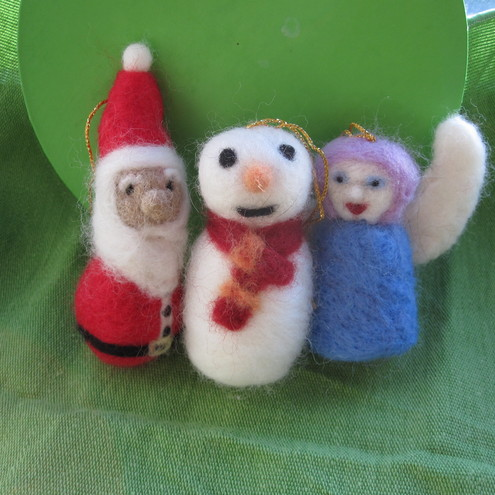 set of Christmas decorations