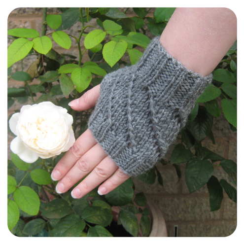 Orange Bird Studio - Hand Knitted Fingerless Gloves