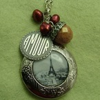 Paris in Autumn Locket from Whimsical Wren Jewellery