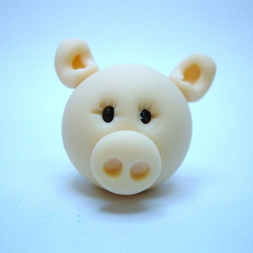Polymer Clay Pig by Amy's Clay Critters
