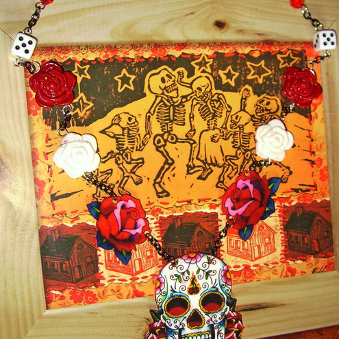 mexican day of dead skull tattoo. Mexican day of the dead