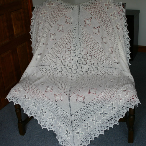 Christening Shawl Knitting Pattern Free : CHRISTENING SHAWL KNITTING PATTERN FREE - VERY SIMPLE FREE KNITTING PATTERNS