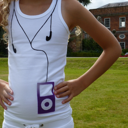 MP3 player vest top. 2-12 years